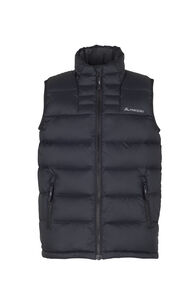 Macpac Atom Down Vest — Kids', Black, hi-res