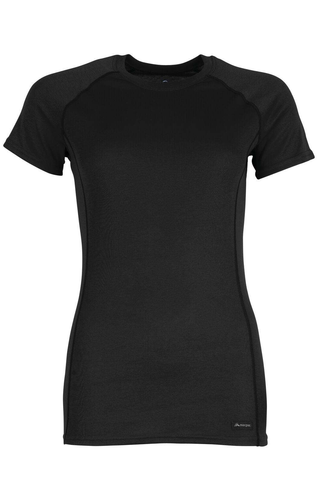 Geothermal Short Sleeve Top - Women's, Black, hi-res