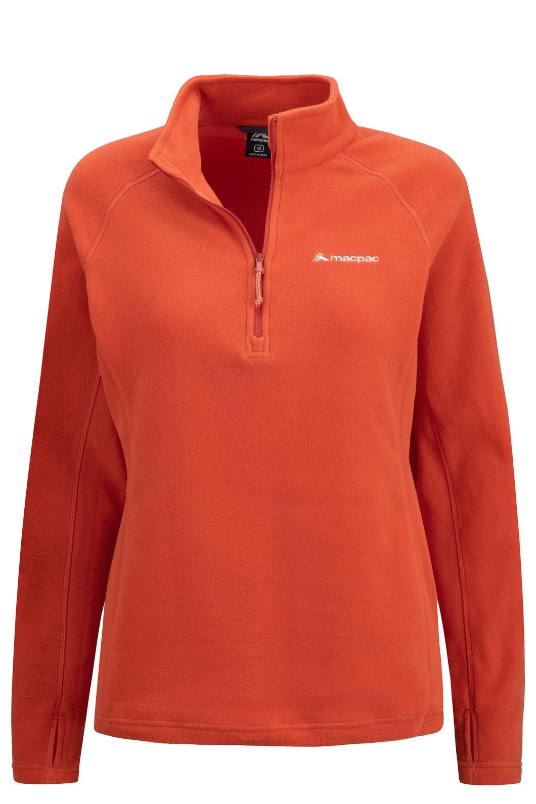 Macpac Women's Tui Polartec® Micro Fleece® Pullover, Habanero, hi-res