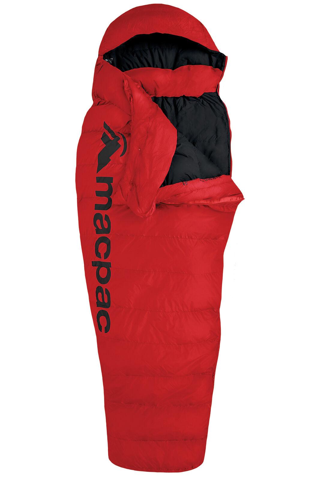 Macpac Overland Down 400 Sleeping Bag - Extra Large, Flame Scarlet, hi-res