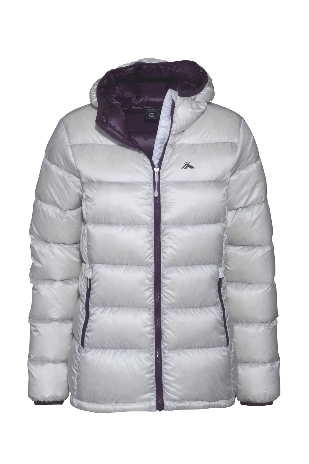 Macpac Jupiter Hooded Down Jacket — Women's, Nimbus Cloud, hi-res
