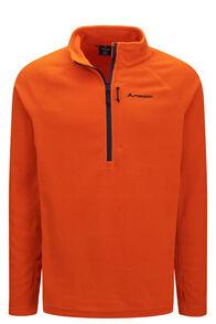 Macpac Men's Tui Polartec® Micro Fleece® Pullover, Orange Flame, hi-res