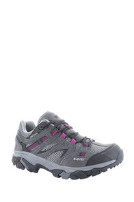 Hi-Tec Ravus Vent WP Hiking Shoes - Women's, Charcoal/Cool Grey/Amaranth, hi-res