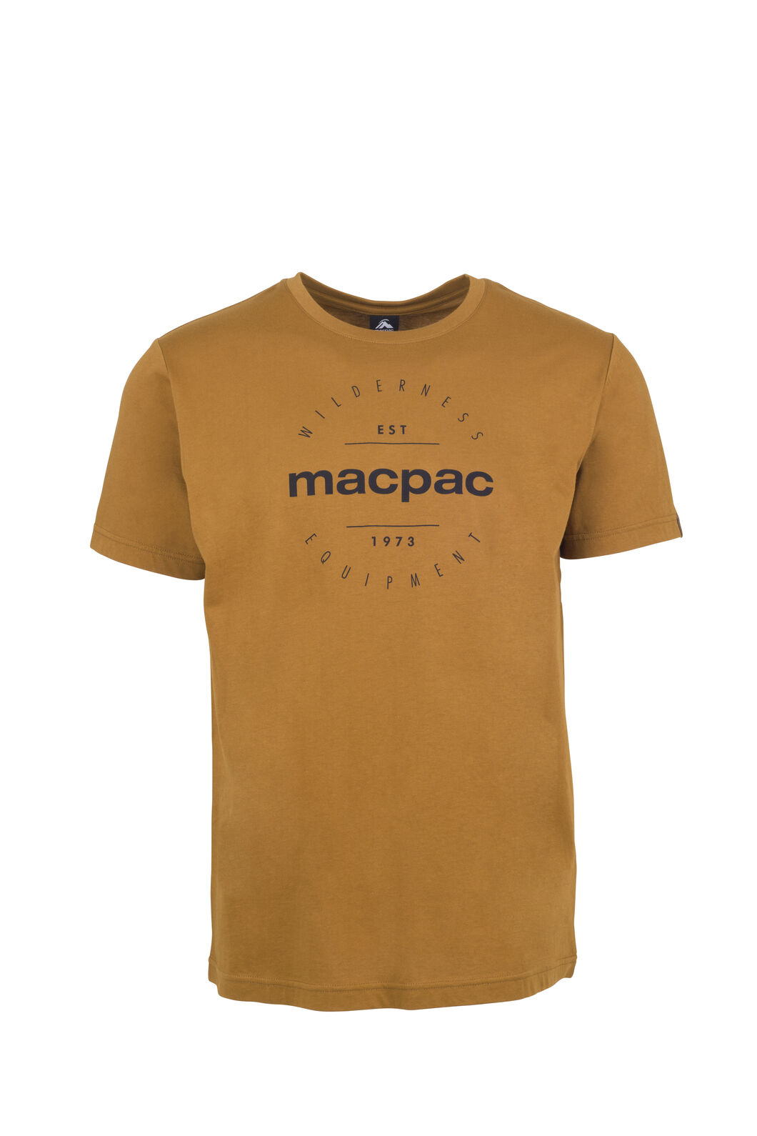Macpac Stamp Organic Cotton Tee - Men's, Bronze Brown, hi-res