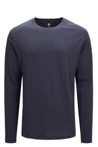 Macpac Lyell 180 Merino Long Sleeve Tee — Men's, BLUE NIGHTS, hi-res