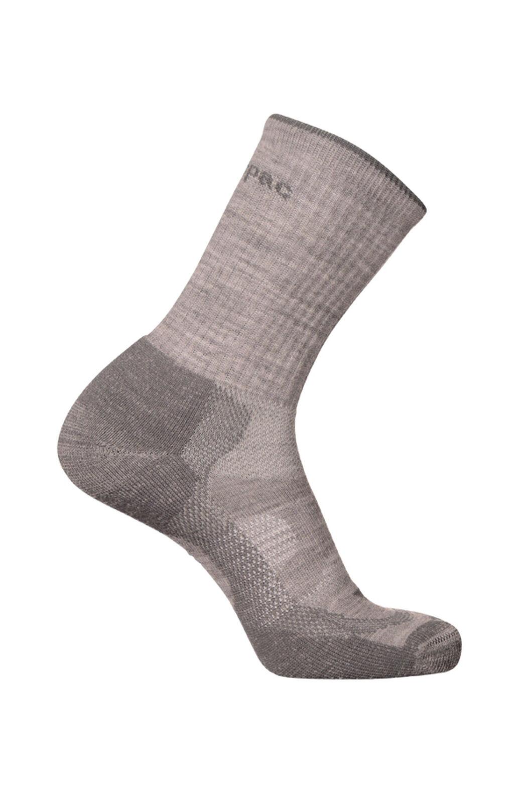 Macpac Merino Crew Socks, Lt Grey, hi-res