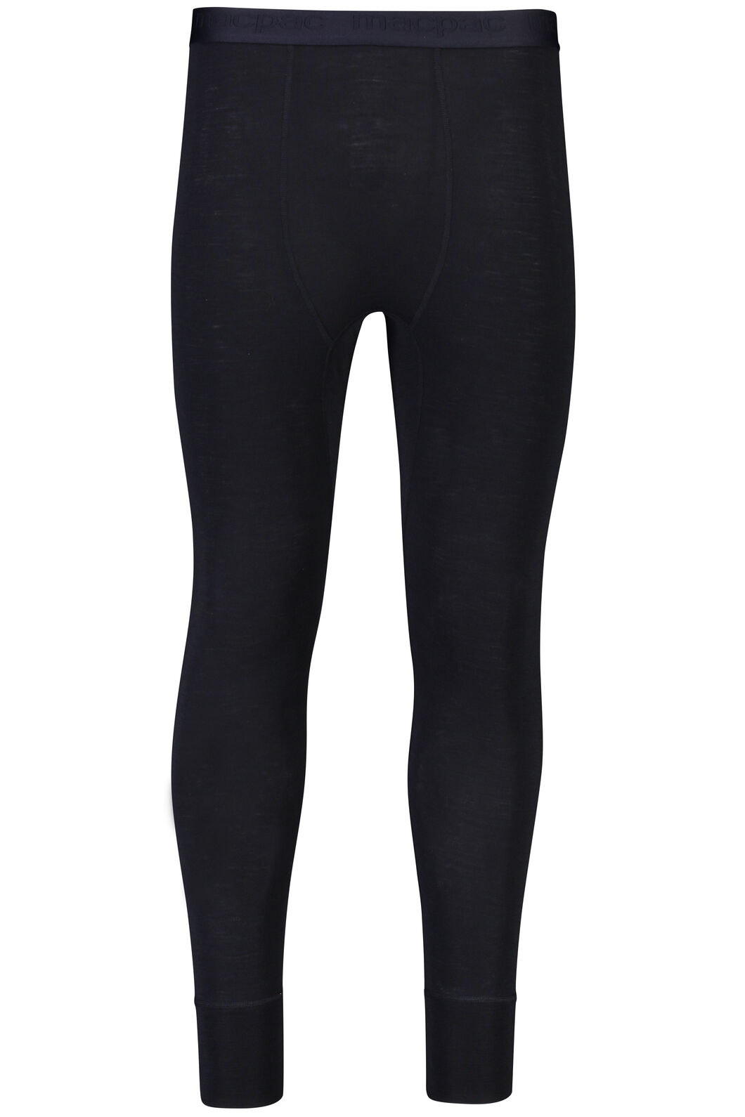 Macpac 220 Merino Long Johns — Men's, Black, hi-res