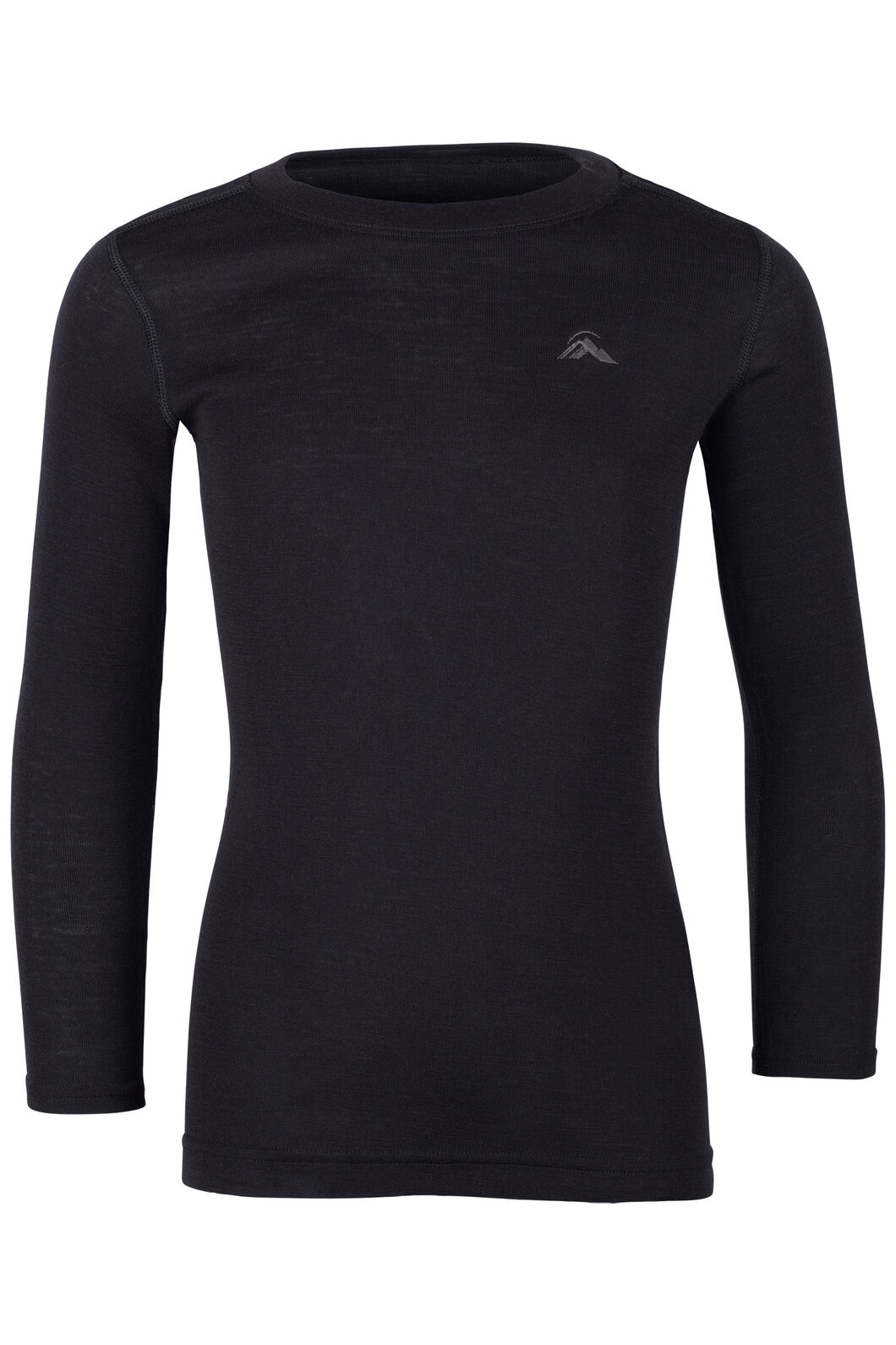 Macpac 220 Merino Long Sleeve Top - Kids', Black, hi-res