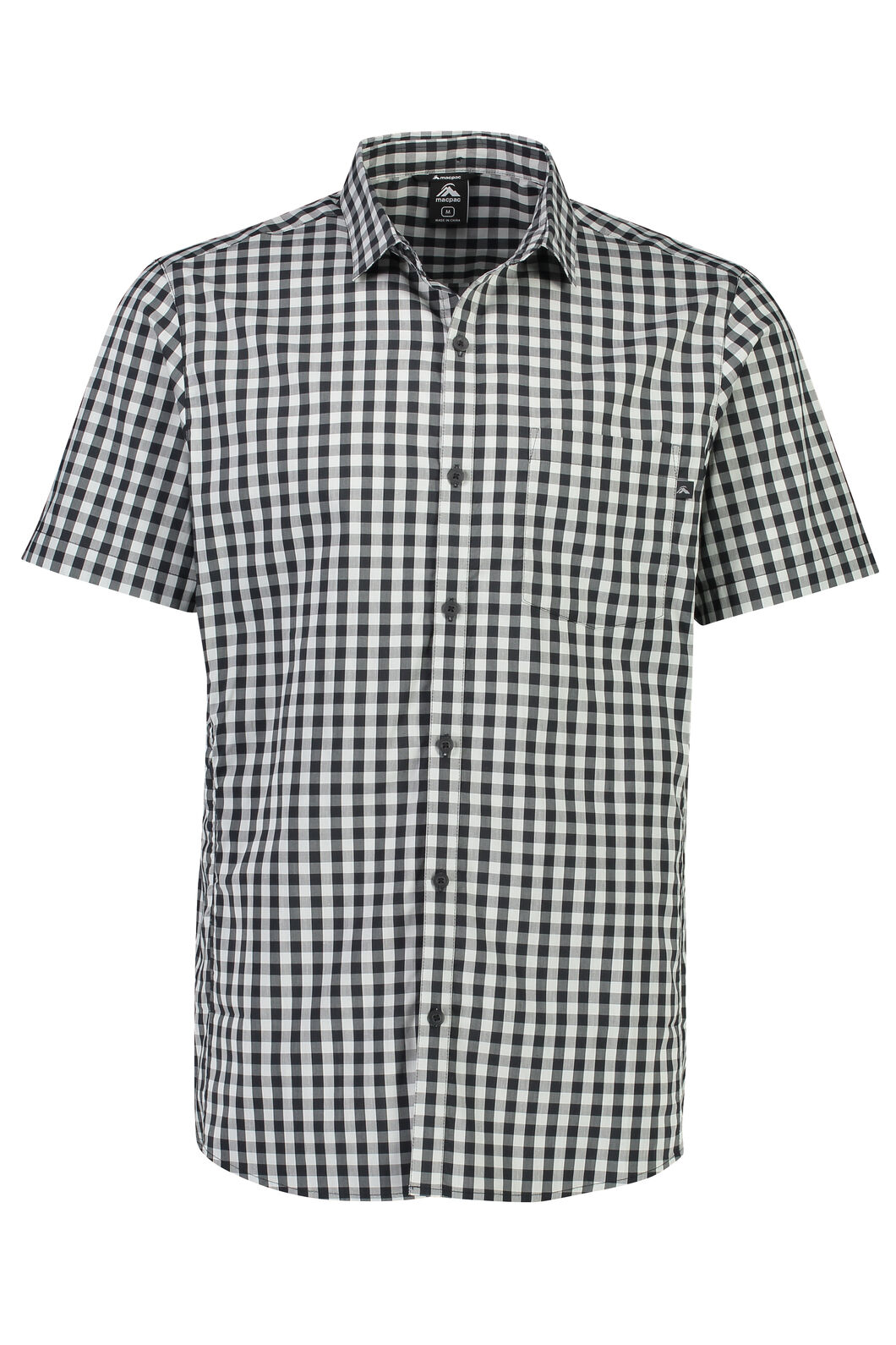 Macpac Crossroad Short Sleeve Shirt - Men's, Anthracite, hi-res