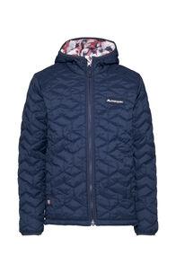 Macpac Pulsar Echo PrimaLoft® Hooded Jacket — Kids', Black Iris/Pink Camo, hi-res