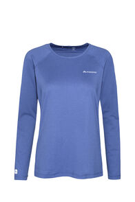 Macpac Eyre Long Sleeve Tee — Women's, Marlin, hi-res