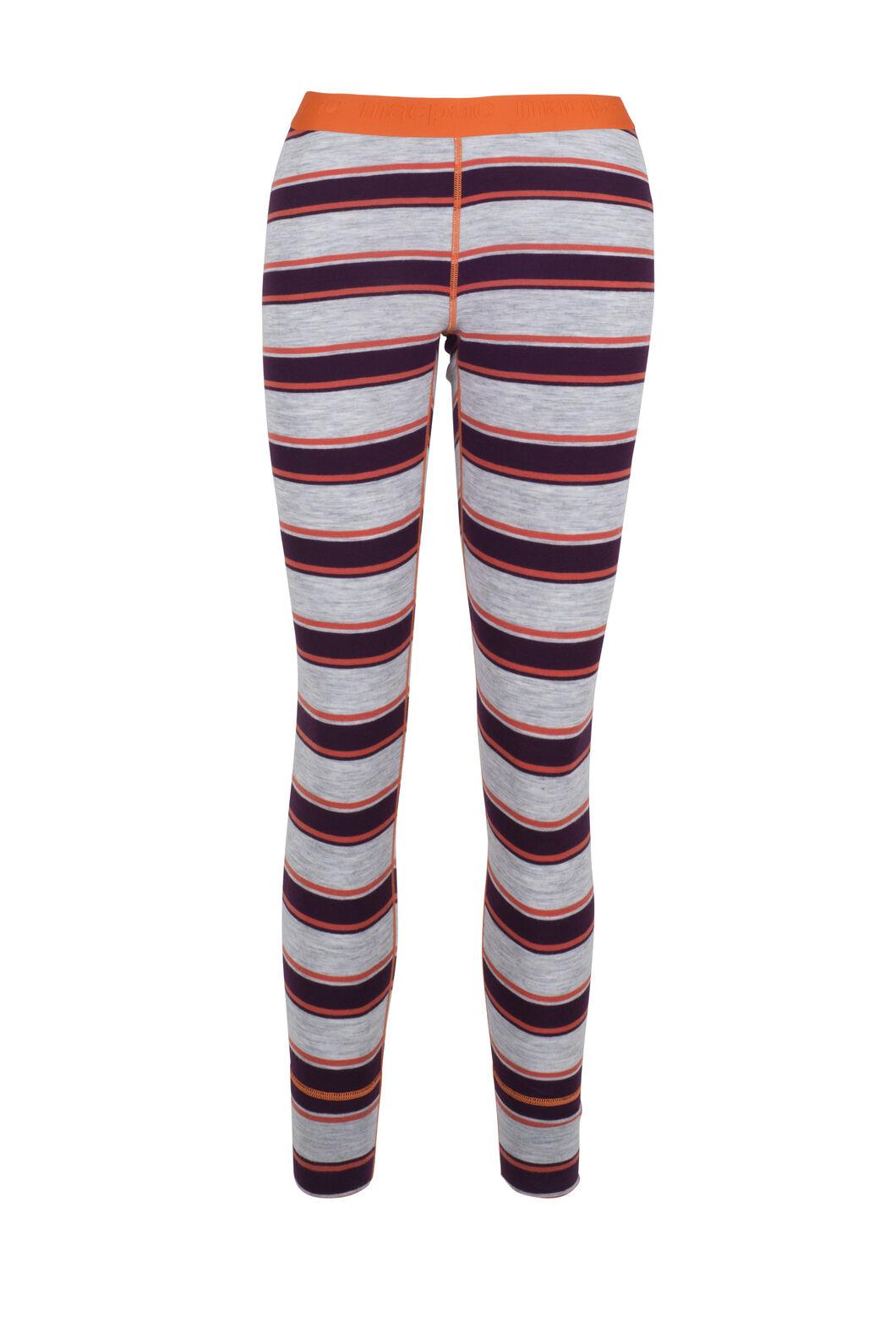 Macpac 220 Merino Long Johns — Women's, Purple Stripe, hi-res