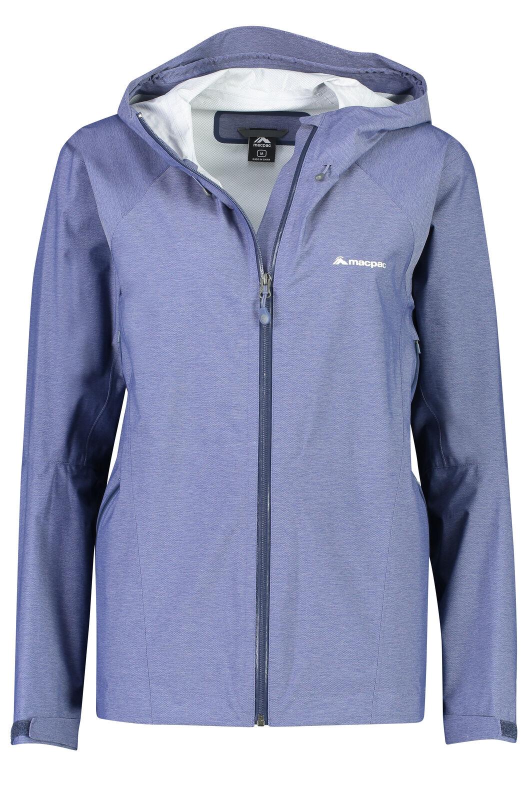 Macpac Less is less Rain Jacket - Women's, Medieval Blue, hi-res