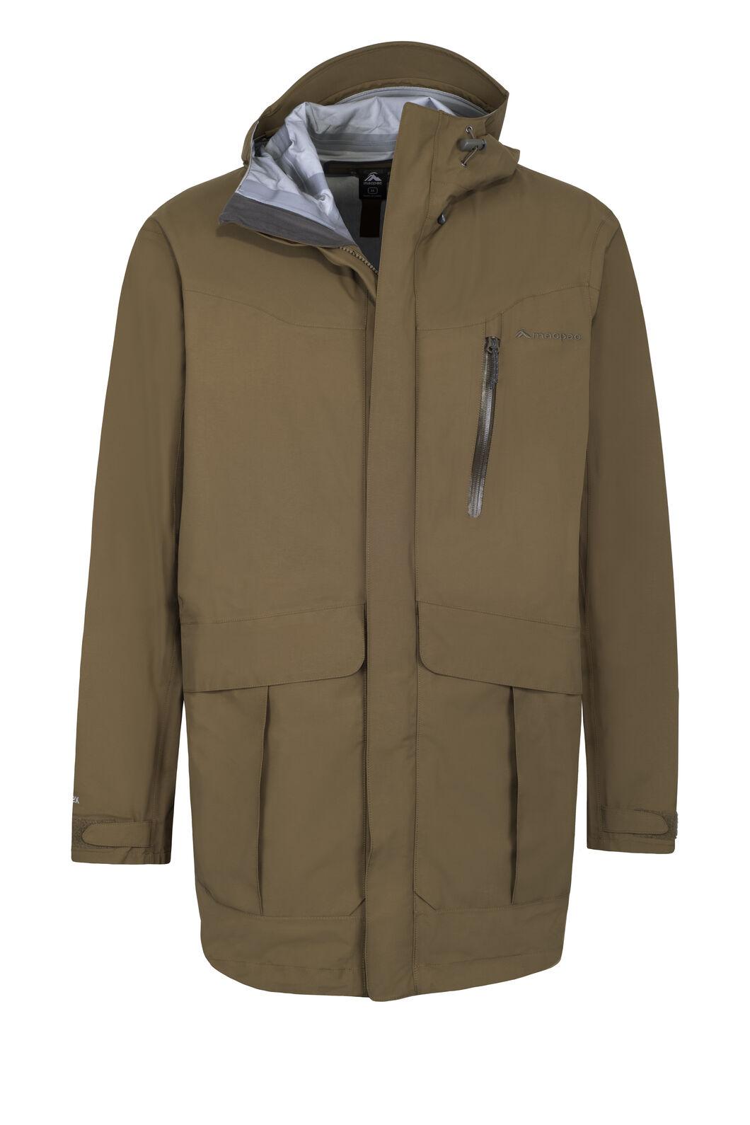 Macpac Men's Copland Long Rain Jacket, Military Olive, hi-res