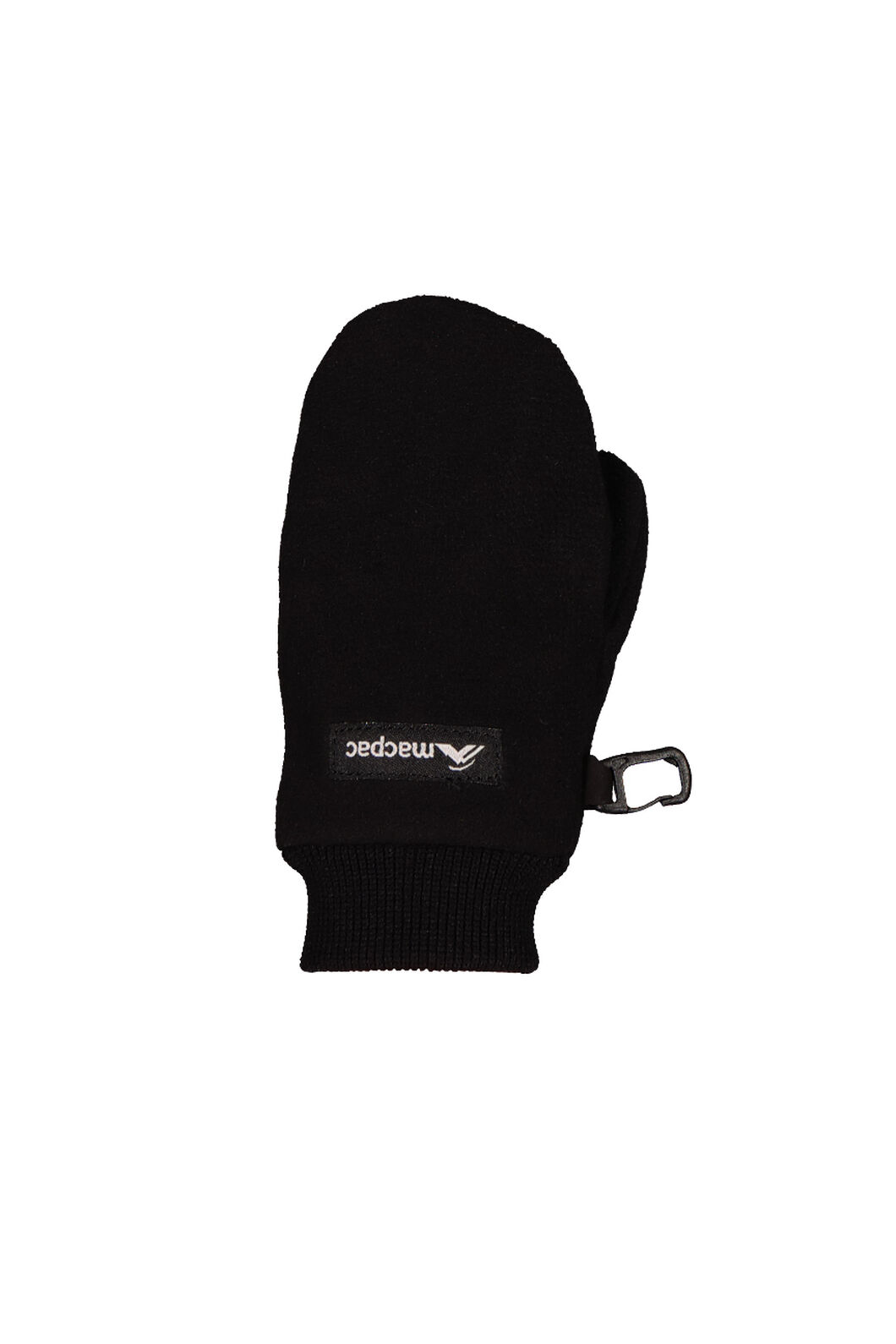 Macpac Fleece Mittens Kids', Black, hi-res