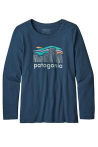 Patagonia Girls' L/S Graphic Organic T-Shirt, Blue, hi-res