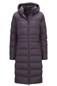 Macpac Aurora Long Hooded Down Coat — Women's, Periscope, hi-res