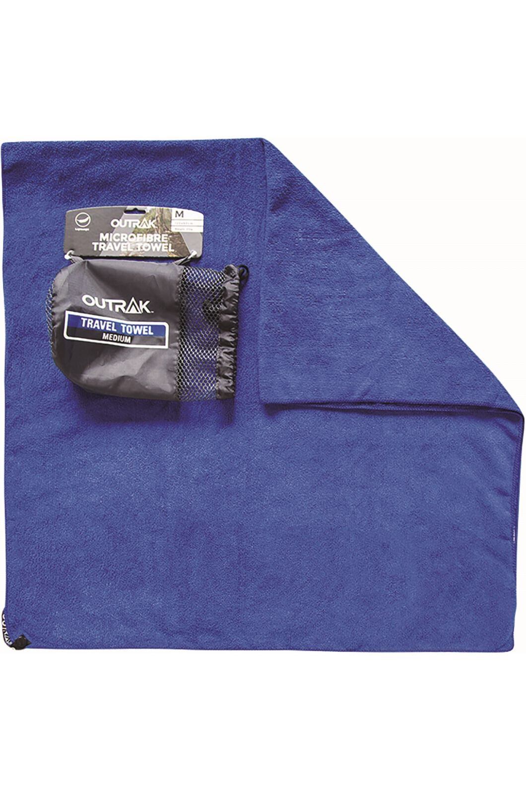 Outrak Microfibre Towel Mediumedium, Navy, hi-res