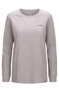 Macpac Women's Quattro Mountain Long Sleeve Tee, Light Grey Marle, hi-res