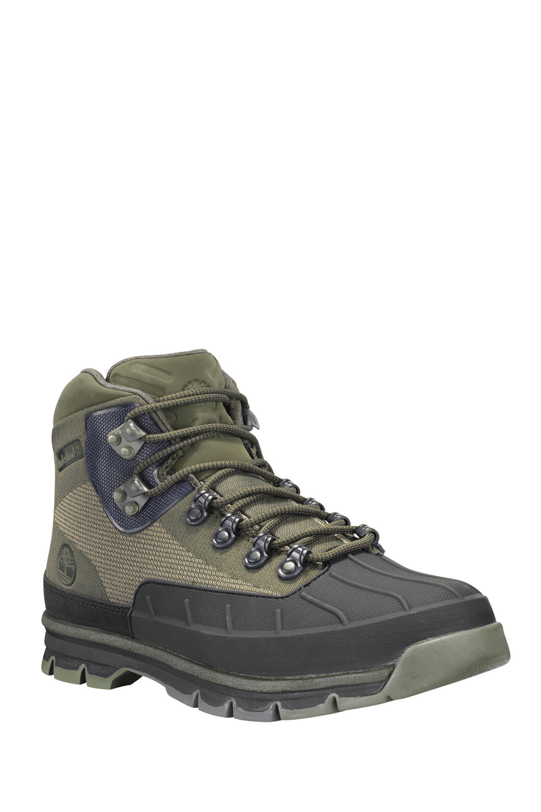 Timberland Men's Euro Hiker Shell-Toe Boots, DARK GREEN JAQUARD, hi-res
