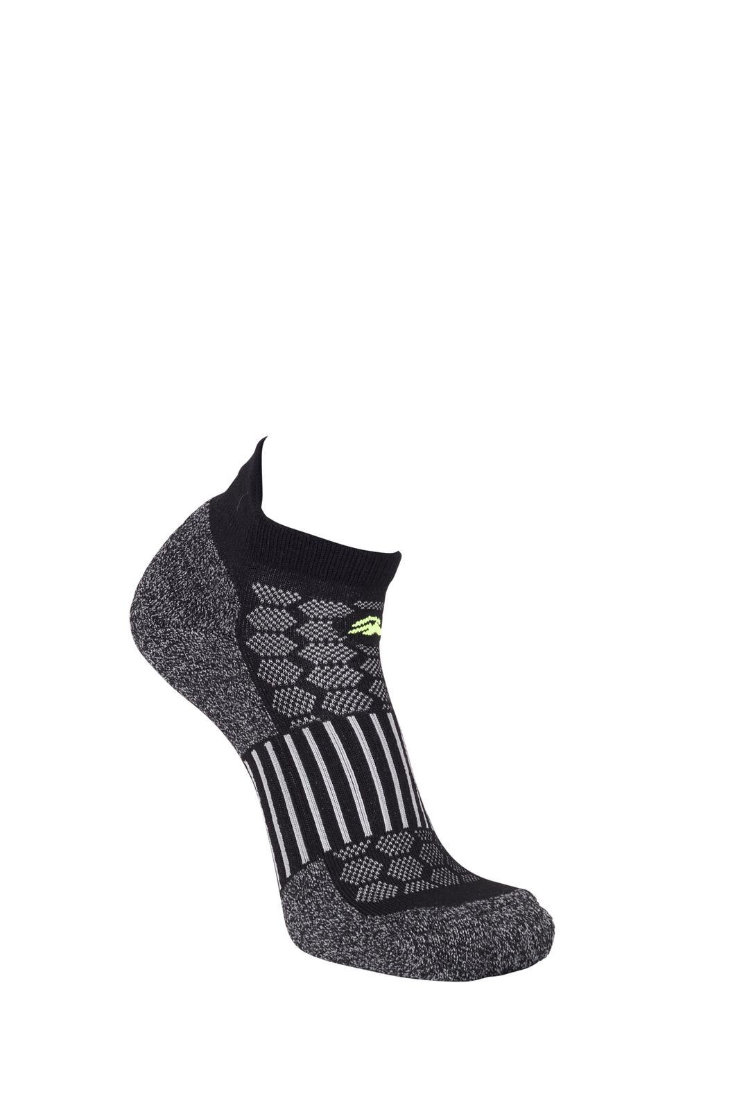 Macpac Tech Merino Trail Socks, Black, hi-res