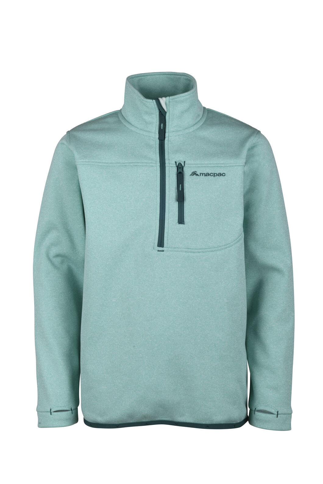 Macpac Kiwi Fleece Pullover - Kids', Waterfall, hi-res