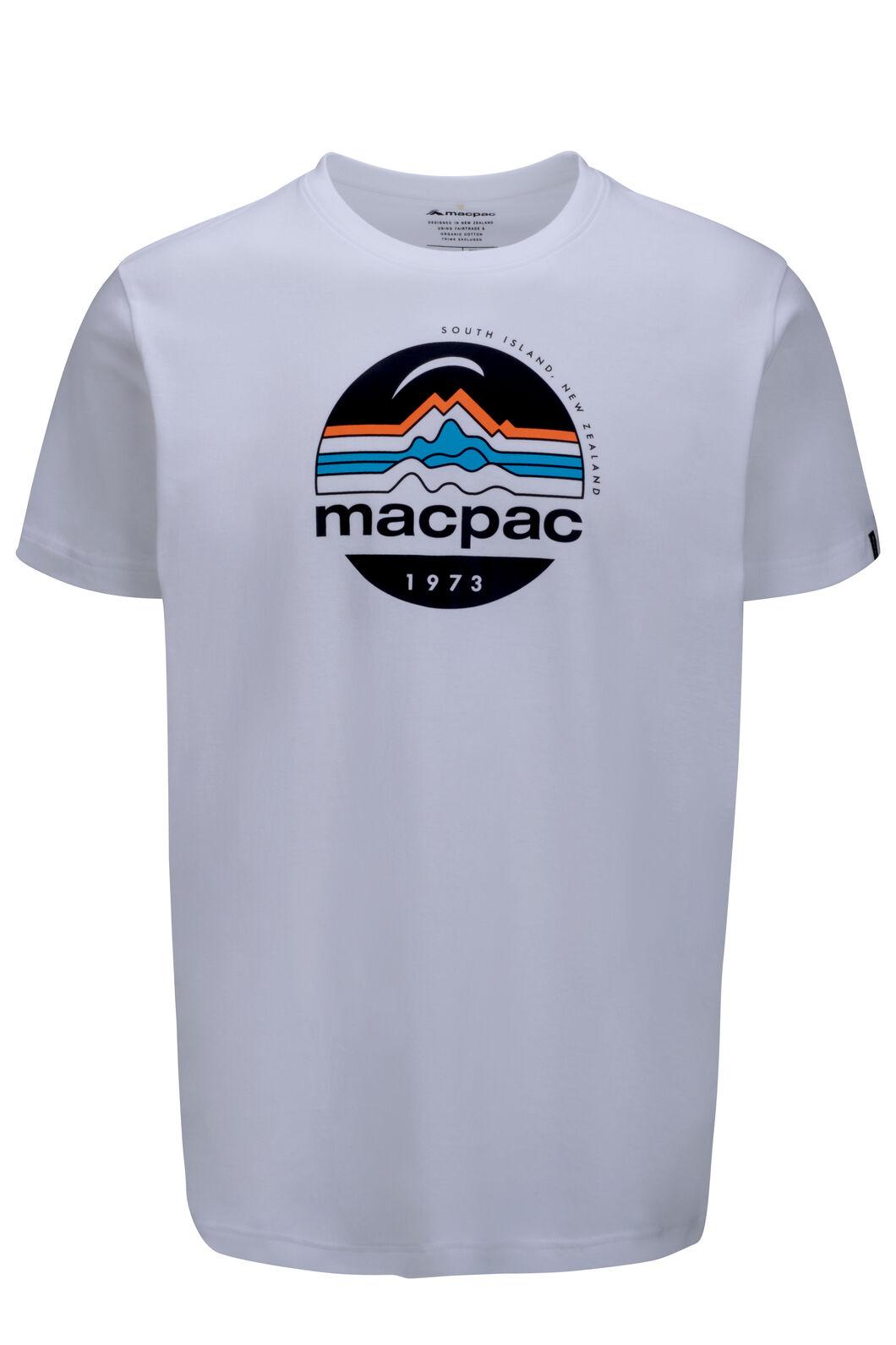 Macpac Retro Fairtrade Organic Cotton Tee — Men's, White, hi-res