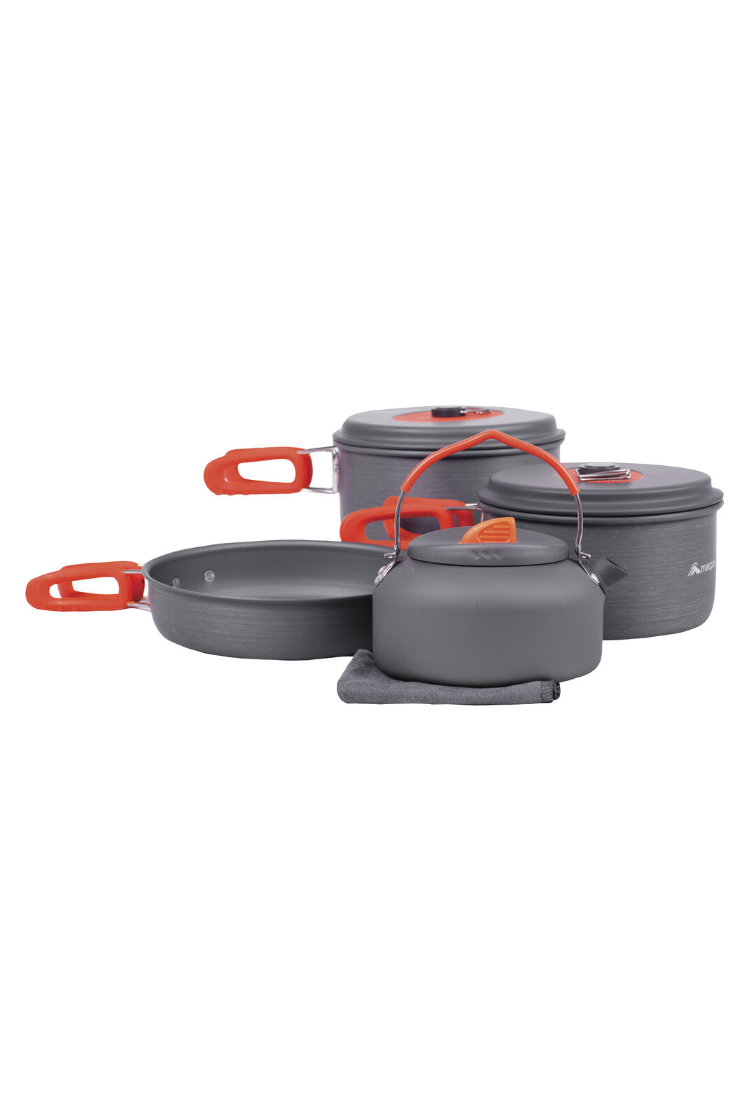 Macpac 7 Piece Camping Cook Set, Orange, hi-res