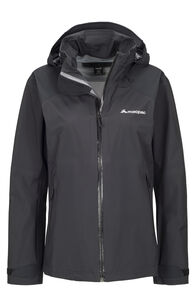 Macpac Traverse Pertex® Rain Jacket — Women's, Black, hi-res