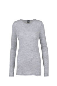 Macpac 220 Merino Top - Women's, Light Grey Marle, hi-res