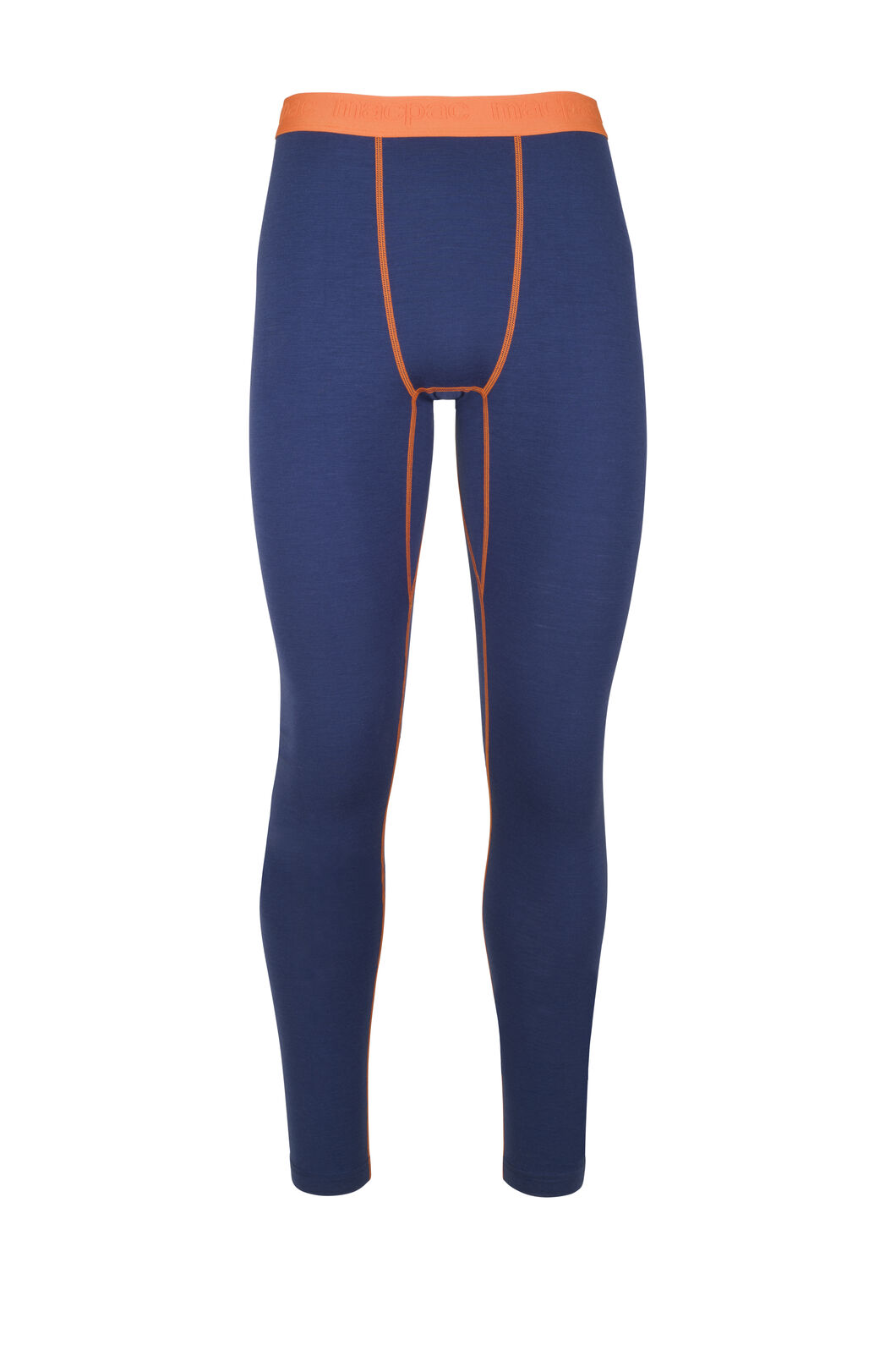 Macpac 180 Merino Long Johns - Men's, Blue Depths/Burnt Orange, hi-res