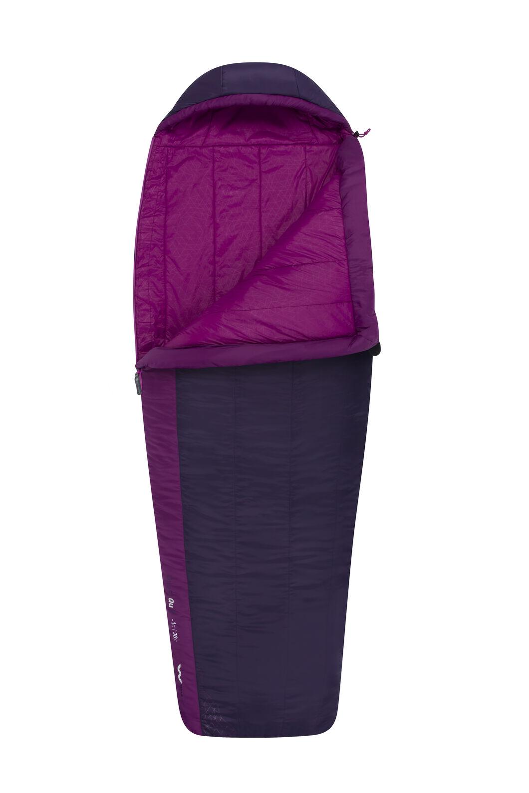 Sea to Summit Quest II Sleeping Bag - Women's Long, Purple, hi-res