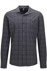 Macpac Men's Travel Lite Long Sleeve Shirt, Forged Iron Check, hi-res