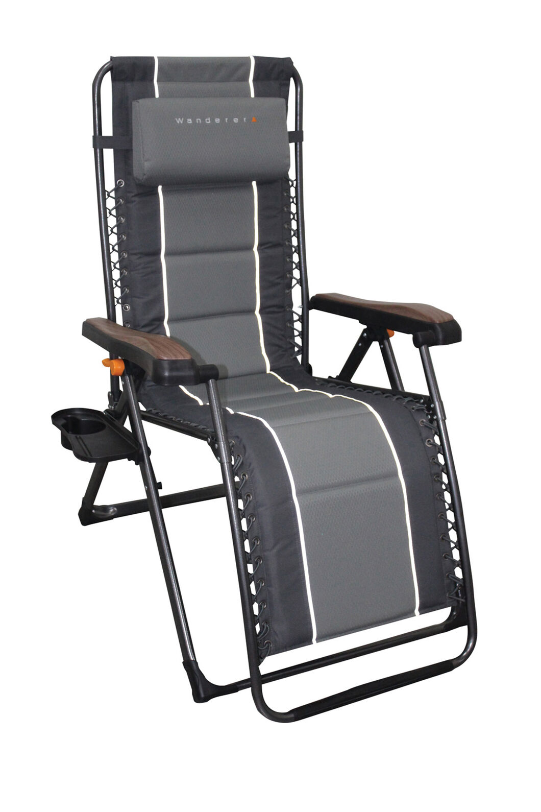Wanderer Premium Reclining Alloy Lounger, None, hi-res
