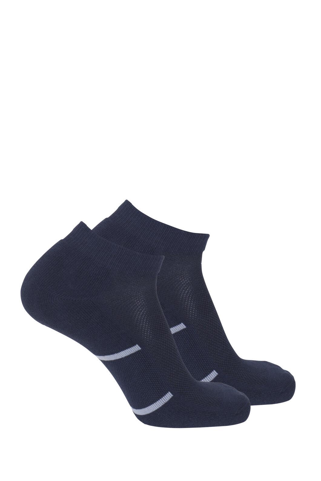Macpac Anklet Socks (2 Pack), Salute/Mid Grey Marle, hi-res