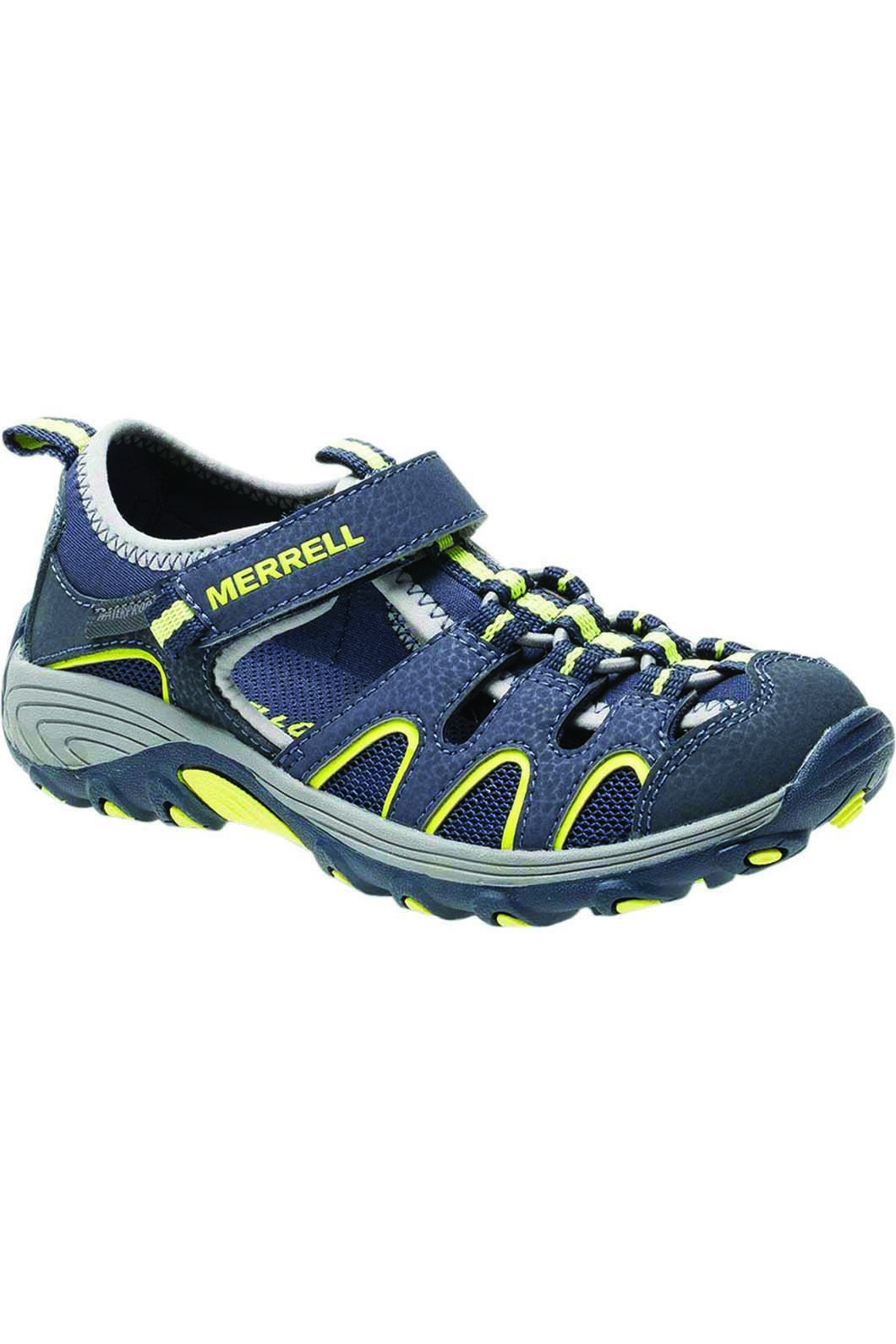 Merrell Kids' Hydro H20 Sandals Lime, NAVY/LIME, hi-res