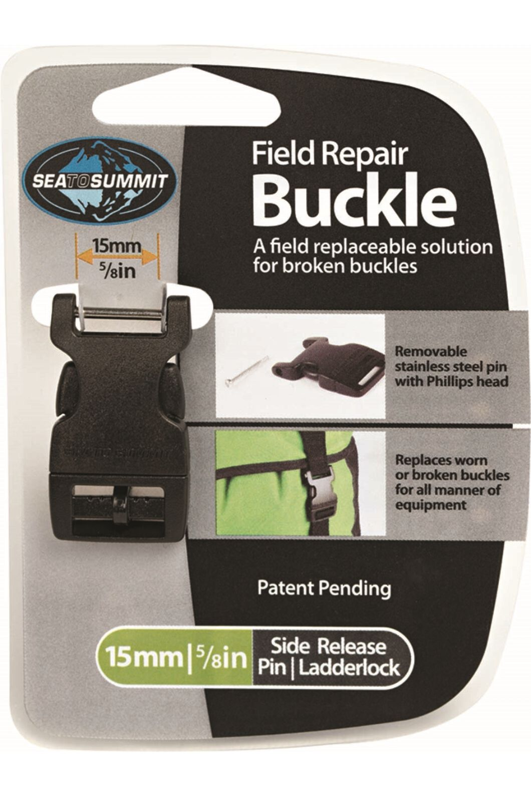 Sea to Summit Field Repair Buckle 15mm Side Release 1 Pin, None, hi-res