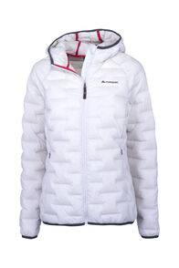 Macpac Ascend Hooded Down Jacket — Women's, Nimbus Cloud, hi-res