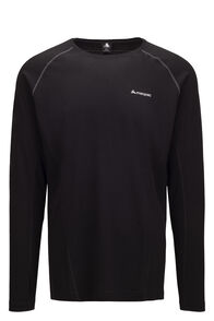Macpac Casswell Merino Blend Long Sleeve Tee — Men's, Black, hi-res