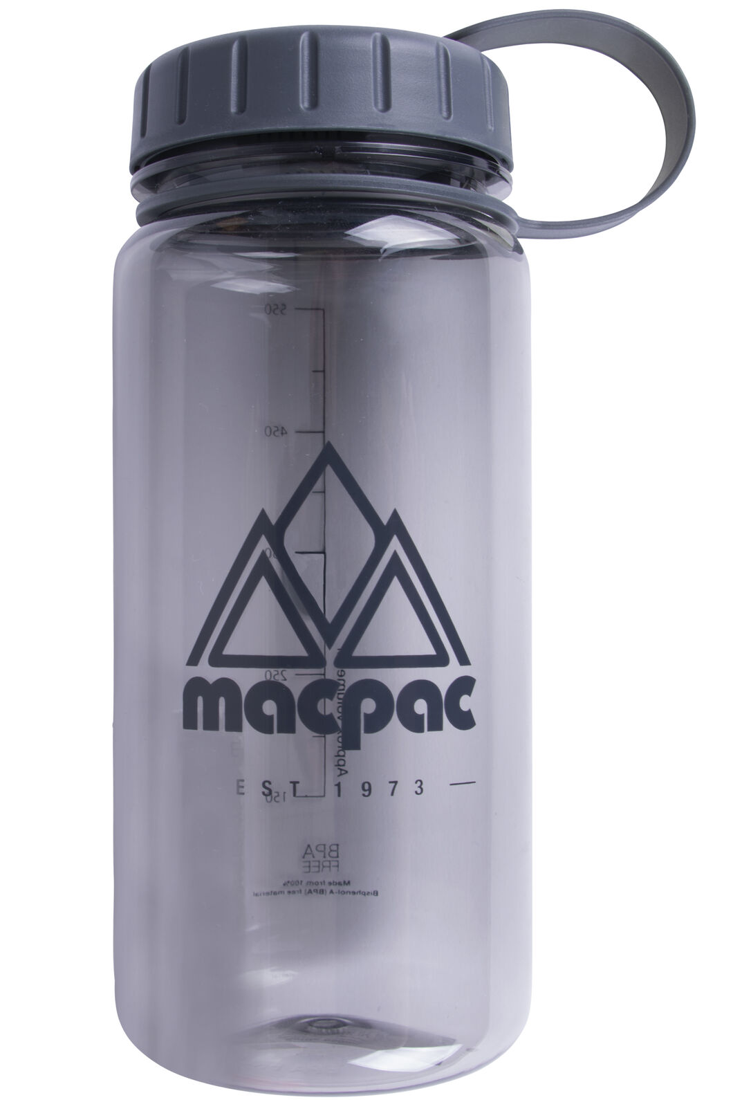 Macpac Drink Bottle 550mL, Grey, hi-res