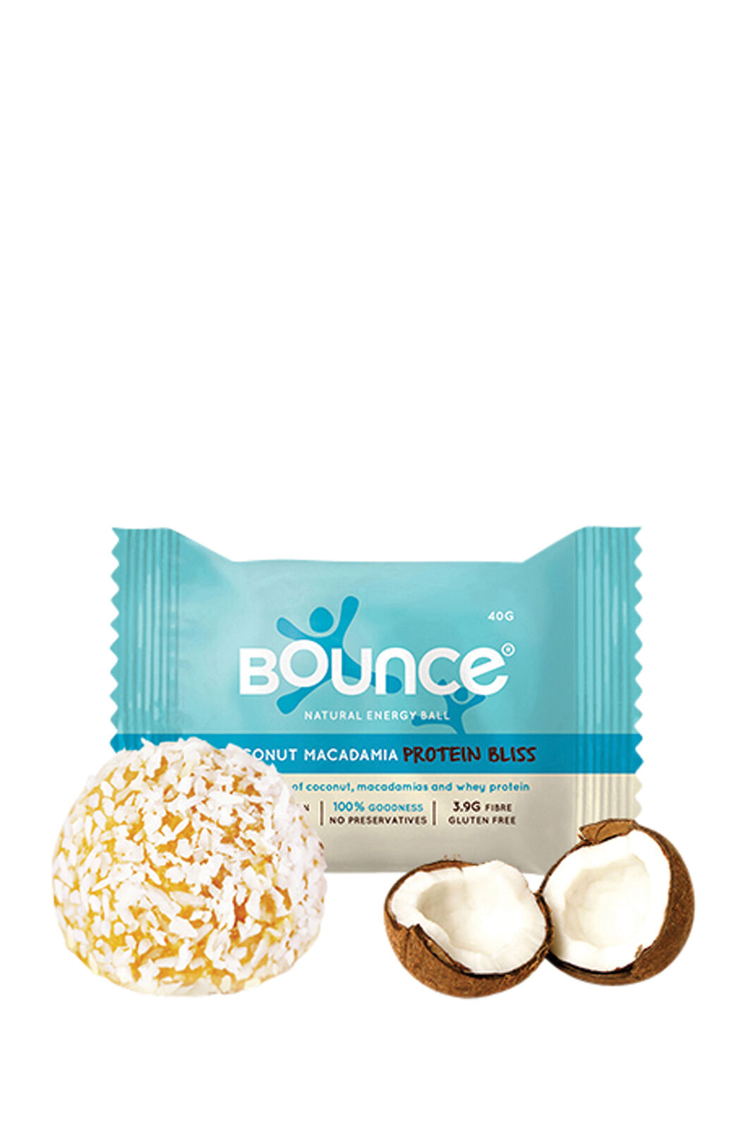 Bounce Coconut Macadamia Protein Bliss Ball, None, hi-res