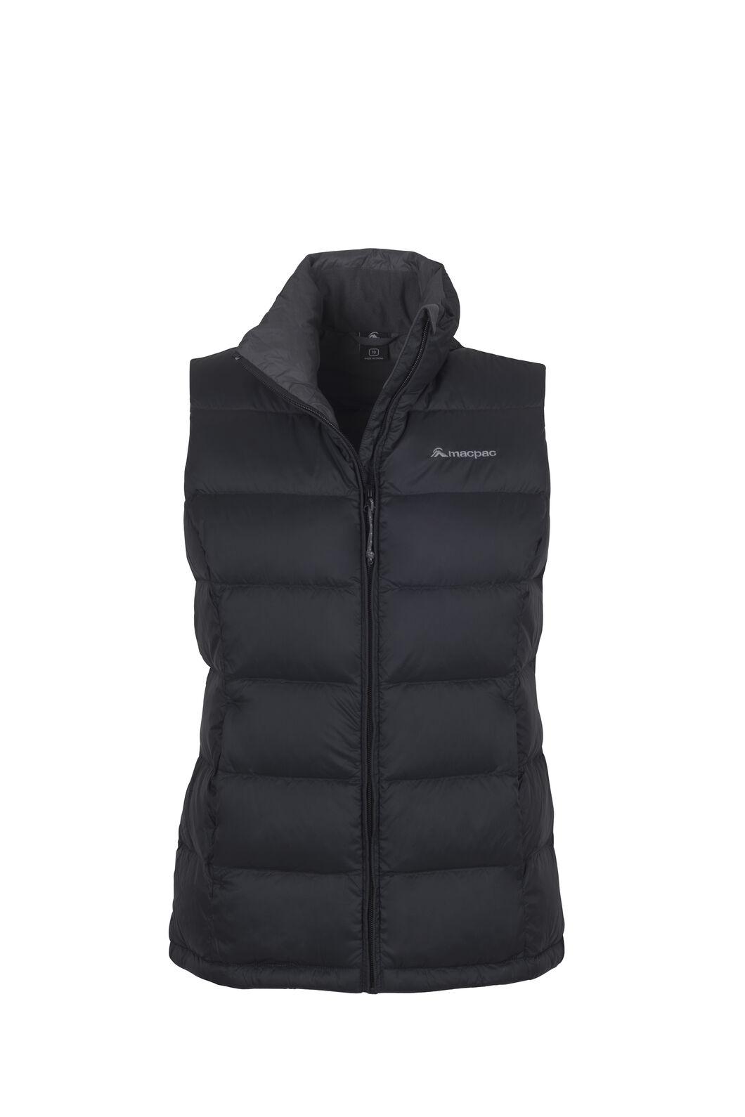 Macpac Halo Down Vest — Women's, Black, hi-res