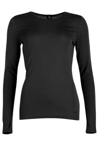 Macpac 220 Merino Top - Women's, Black, hi-res