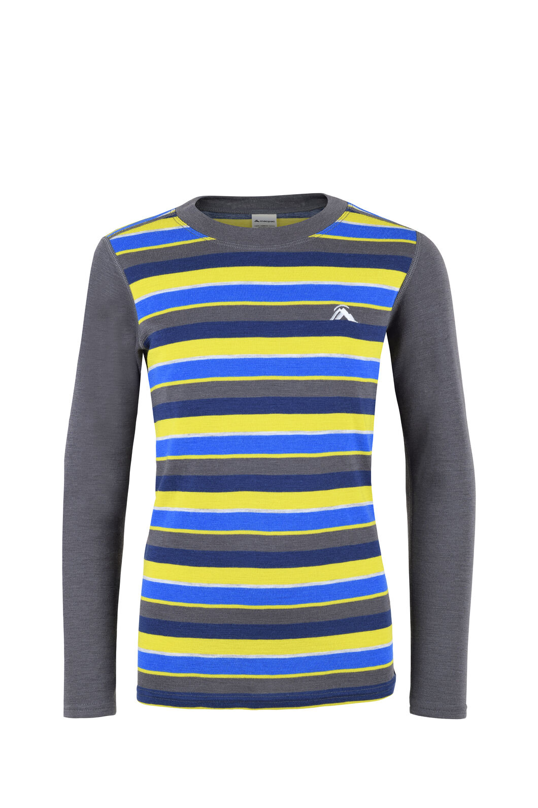 Macpac 220 Merino Long Sleeve Top - Kids', Blue Depths Stripe, hi-res
