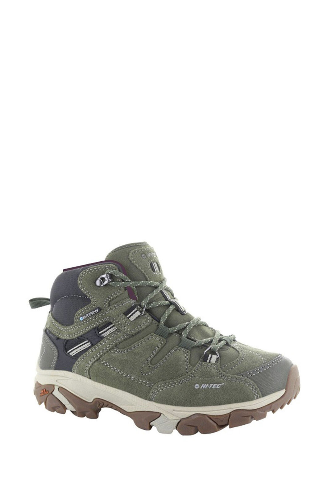 Hi-Tec Women's Ravus Adventure Hiking Boots, Olive Night/Stone/Wine, hi-res