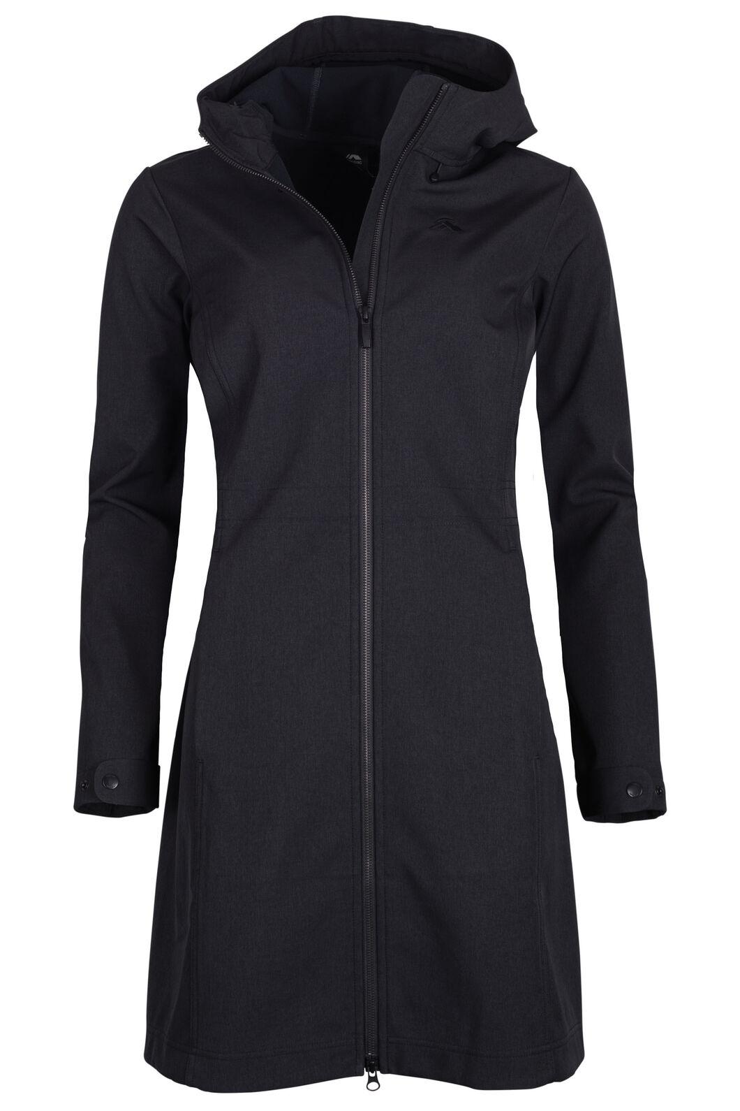 Macpac Chord Softshell Coat - Women's, Black, hi-res