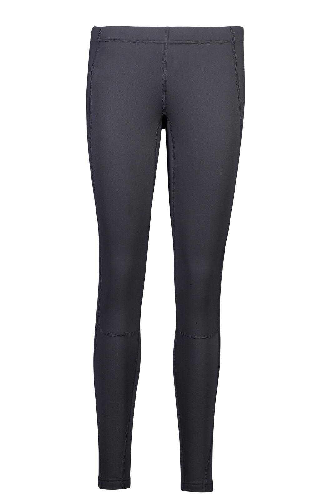 Traverse Fleece Tights - Women's, Black, hi-res