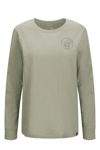 Macpac Women's Since 1973 Fairtrade Organic Cotton Long Sleeve Tee, Desert Sage, hi-res