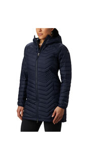 Columbia Powder Light Hooded Long Jacket — Women's, NOCTURNAL, hi-res
