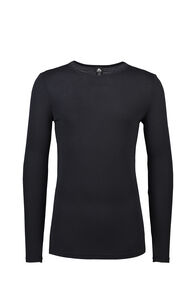 Macpac 220 Merino Long Sleeve Top - Men's, Black, hi-res
